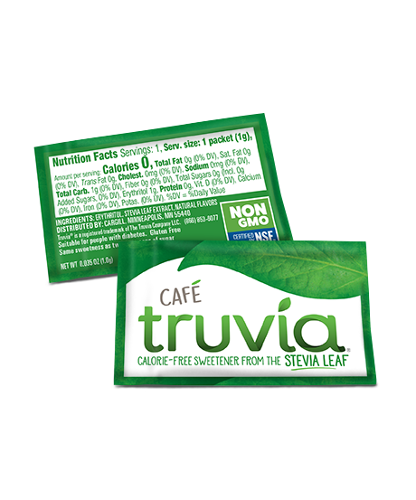 3 D Truvia Cafe Packet Front Back 460X553